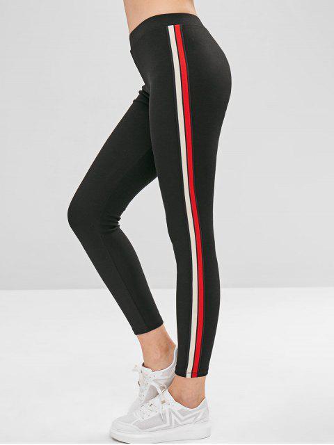 Legging Epais à Bordure Rayée - Noir Taille Unique Mobile