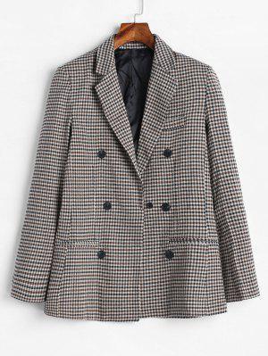 Doppelreihiger Tweed Blazer aus Gingham