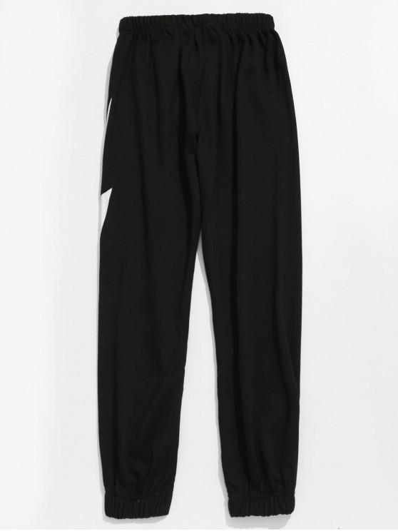 Pantalon de jogging à motif éclair - Noir 3XL