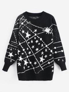 Pull Graphique étoiles - Noir