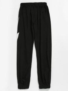 Lightning Pattern Jogger Pants - Black 3xl
