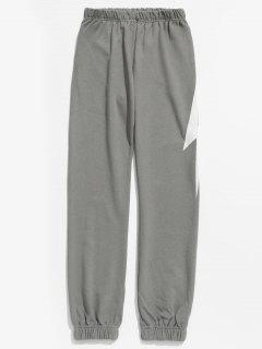 Pantalón Jogger Con Diseño De Rayos - Gris Claro 3xl