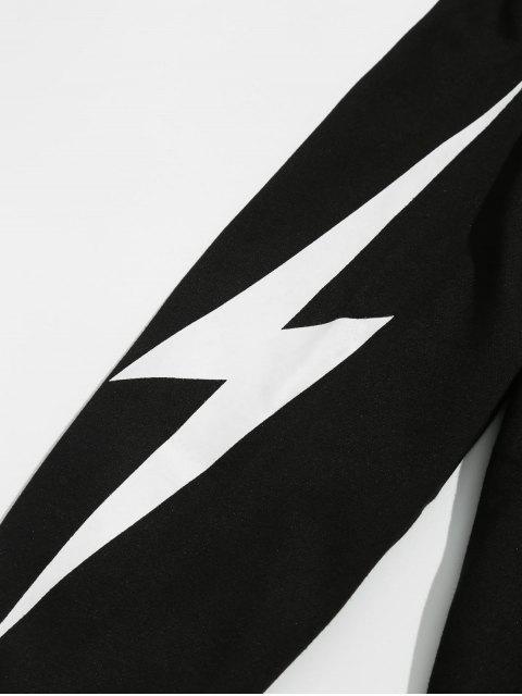 unique Lightning Pattern Jogger Pants - BLACK 3XL Mobile