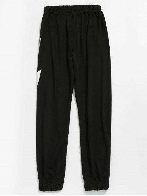 Pantalon de jogging à motif éclair - Noir 3XL Mobile