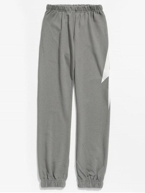 Pantalon de jogging à motif éclair - Gris Clair 3XL Mobile