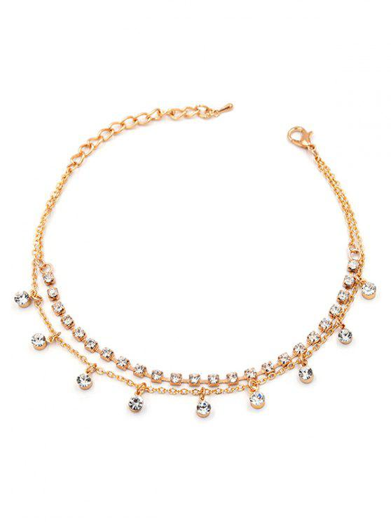 new Rhinestone Embellished Anklet Chain - GOLD