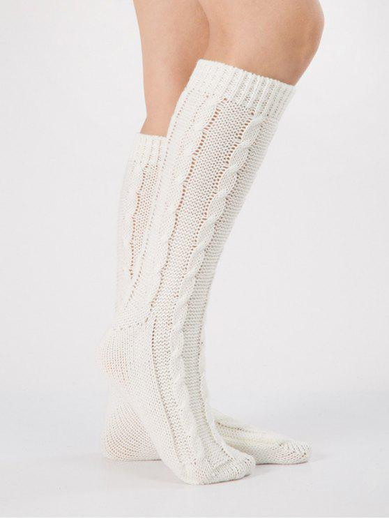7016adf81 21% OFF  2019 Solid Color Knitted Hose Socks In WHITE