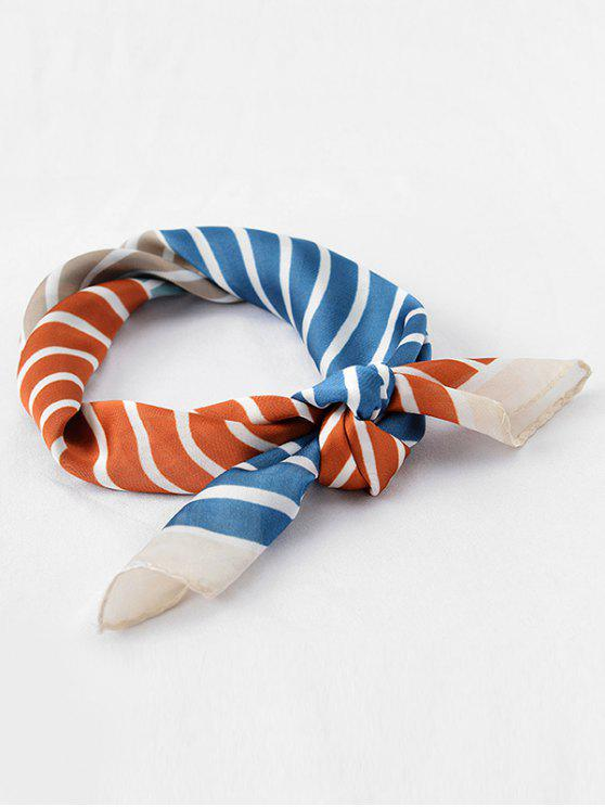 lady Vintage Color Block Stripe Scarf - TIGER ORANGE