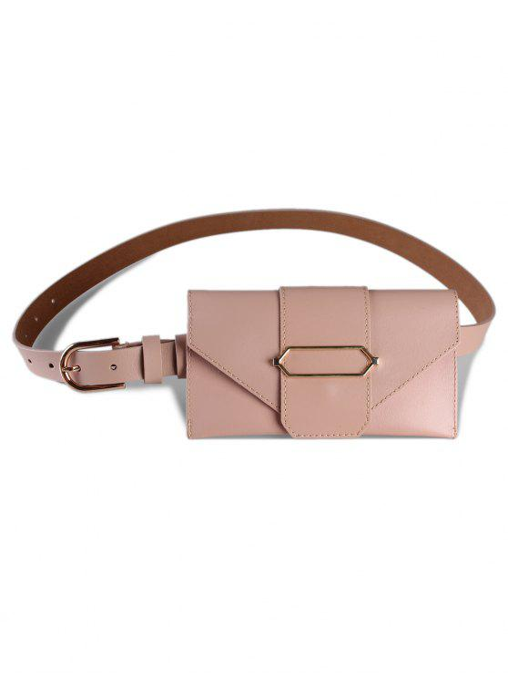 unique Stylish Funny Bag Faux Leather Belt Bag - APRICOT