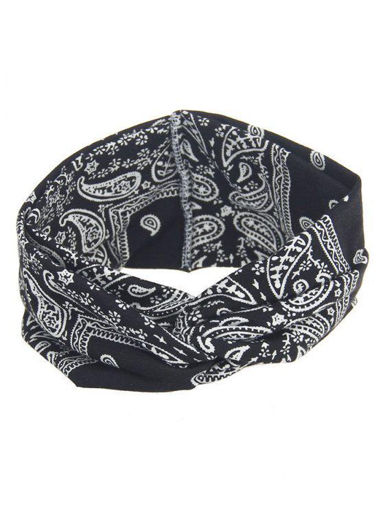 women's Bohemian Theme Printing Headband - BLACK