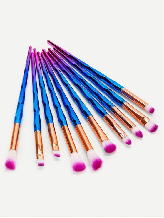 new Professional 10 Pcs Soft Hair Eyeshadow Blending Eye Makeup Brush Set - DEEP BLUE
