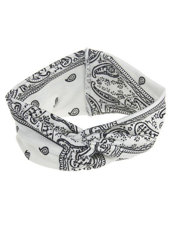 chic Bohemian Theme Printing Headband - WHITE
