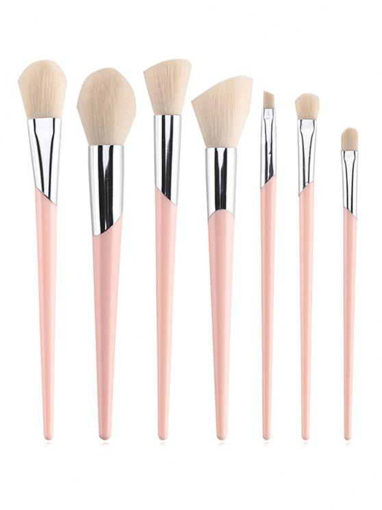 womens Professional 7 Pcs Soft Hair Eyeshadow Blush Powder Brush Set - LIGHT PINK