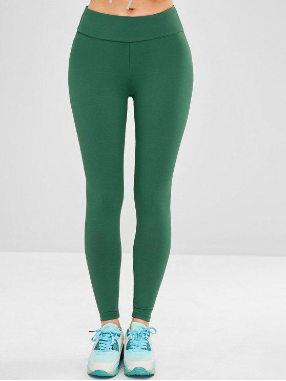 Leggings Sportivi Di Yoga Con Tasca - Verde Scuro S