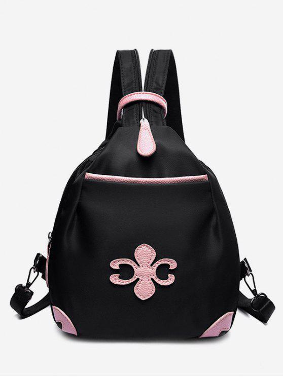online Waterproof Design Mini Zipper Backpack - BLACK