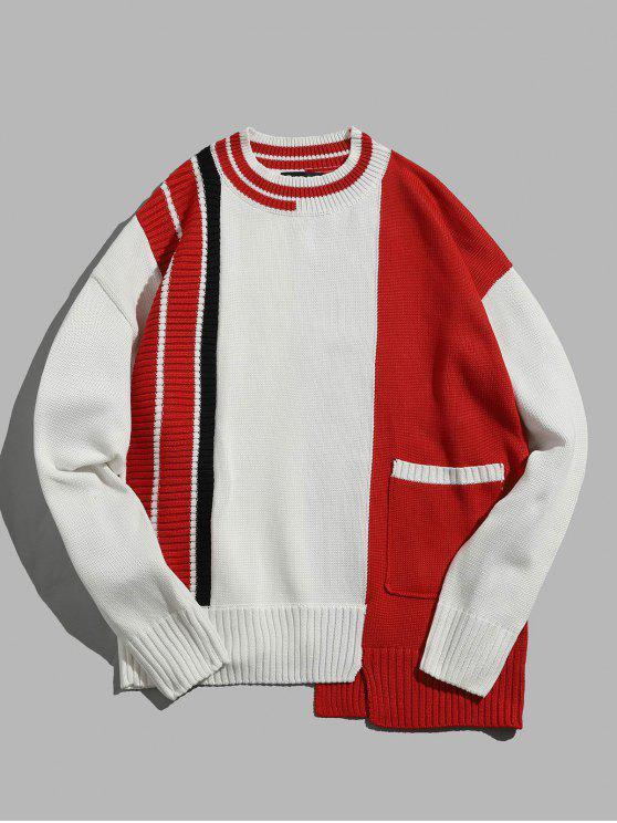 Maglione Pullover Con Orlo Irregolare - Bianca M