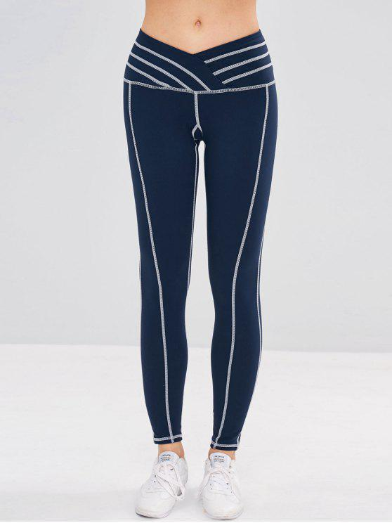 trendy Sport Stretchy Workout Yoga Leggings - MIDNIGHT BLUE M