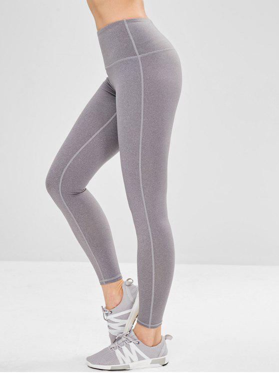 best Yoga High Waisted Athletic Leggings - GRAY S