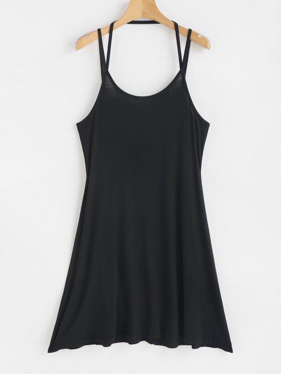 buy Mini Strappy Slip Dress - BLACK M