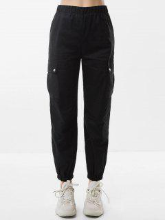 Pantalon Cargo De Jogging à Taille Haute Avec Poches - Noir S