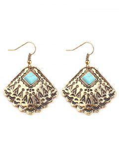 Bohemian Style Totem Design Earrings - Gold