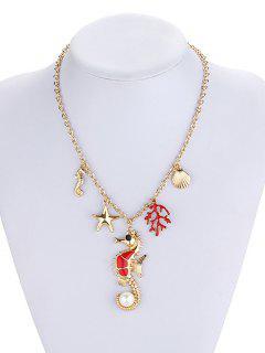 Collier De Fausses Perles D'animaux Marins Corail - Or