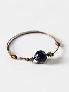 Star And Ball Decoration Hand String Bracelet - Lapis Blue