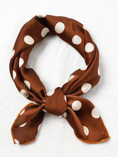 Cute Polka Dot Decorative Handkerchief - Sepia