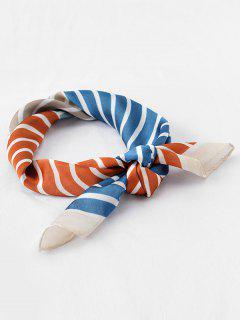 Vintage Color Block Stripe Scarf - Tiger Orange