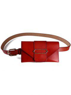 Stylish Funny Bag Faux Leather Belt Bag - Light Brown