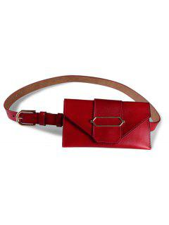 Stylish Funny Bag Faux Leather Belt Bag - Red