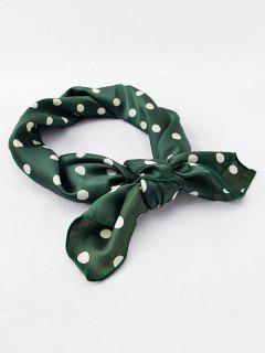 Polka Dot Decorative Silky Scarf - Dark Green
