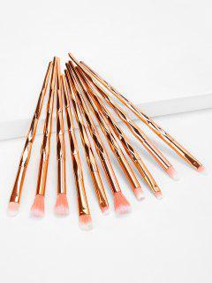 Professional 10 Pcs Rose Gold Handle Eye Makeup Brush Suit - Rose Gold