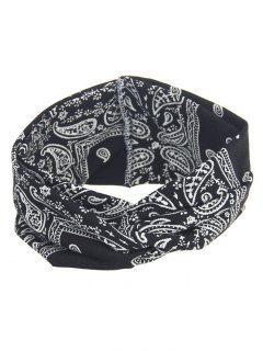 Bohemian Theme Printing Headband - Black