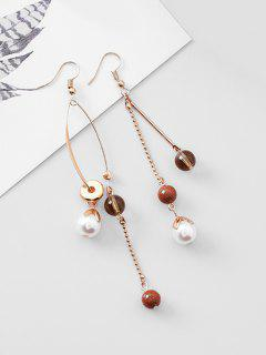 Bohemian Style Ball Decoration Hook Earrings - Gold