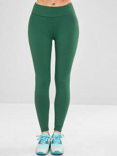 Sport Yoga Gym Leggings With Pocket - Deep Green M