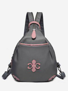 Waterproof Design Mini Zipper Backpack - Gray