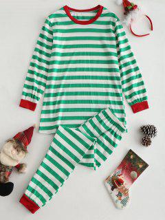 Striped Top And Pants Loungewear Set - Multi M