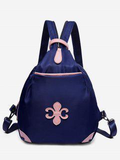 Waterproof Design Mini Zipper Backpack - Deep Blue