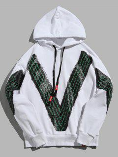 Pullover Hip Hop Letter Print Hoodie - White M