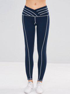 Sport Stretchy Workout Yoga Leggings - Midnight Blue M
