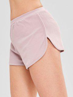 Elastic Waist Dolphin Shorts - Pink M
