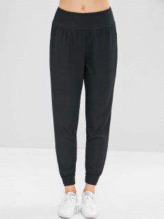 Ribbed Jogger Pants - Black M
