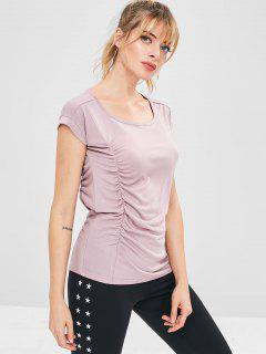 Athletic Ruched Sport Tank Top - Pink M