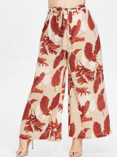 ZAFUL Plus Size Print Wide Leg Palazzo Pants - Multi L