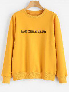 BAD GIRLS CLUB Graphic Pullover Sweatshirt - Bright Yellow M