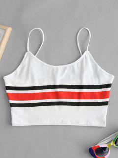 Stripe Cami Top - White S
