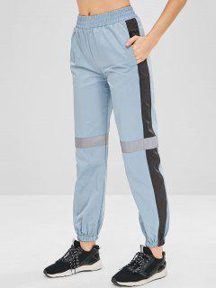 Color Block Jogger Athletic Pants - Blue Gray M