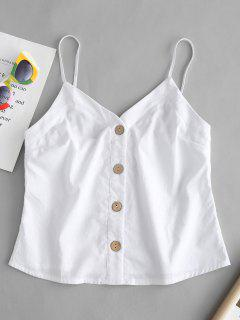 Button Up Cami Top - White M