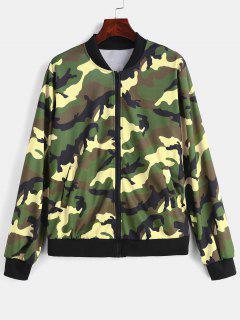 Zip Up Camouflage Jacket - Acu Camouflage S